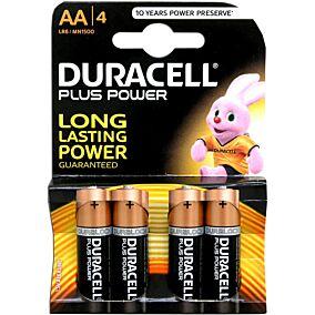 Μπαταρίες DURACELL plus αλκαλικές AA 1,5V (4τεμ.)
