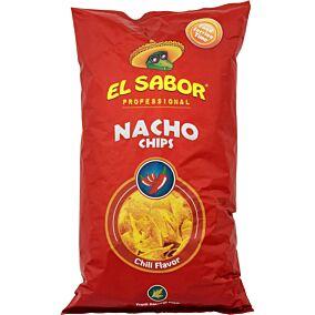 Τσιπς τορτίγια NACHO CHIPS chili (500g)