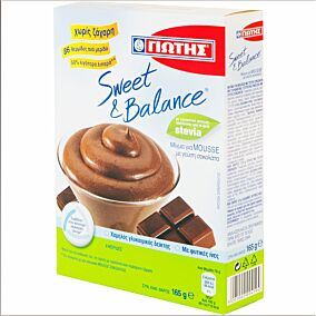 Σοκολατάκια SWEET AND BALANCE mousse (165g)