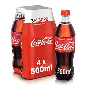 Αναψυκτικό COCA COLA (4x500ml)