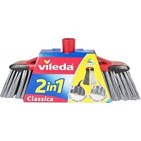 Σκούπα VILEDA classica 2 σε 1 με χοντρό κάλυκα μαύρη