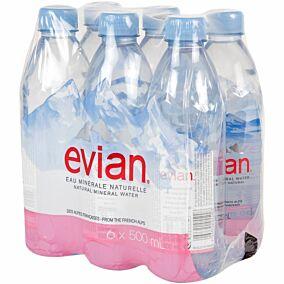 Νερό EVIAN Pet φυσικό μεταλλικό (6x500ml)