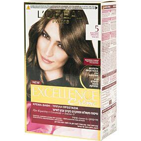 Βαφή μαλλιών L'OREAL excellence καστανό no.5