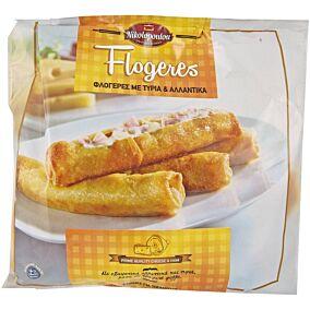Φλογέρες NIKOLOPOULOU με αλλαντικά και τυρί κατεψυγμένες (1kg)