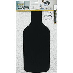 """Μαυροπίνακας επιτοίχιος SECURIT SILHOUETTE """"μπουκάλι"""" περιλαμβάνεται μαρκαδόρος"""