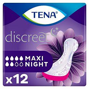 Σερβιέτες TENA Lady Maxi Night για την ακράτεια (12τεμ.)
