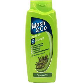 Σαμπουάν WASH & GO λιπαρά μαλλιά με εκχύλισμα βοτάνων (700ml)