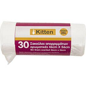 Σακούλες απορριμμάτων KITTEN αρωματικές 46x56cm (30τεμ.)