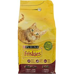 Ξηρά τροφή FRISKIES γάτας με βοδινό και καρότο (2kg)
