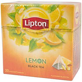 Τσάι LIPTON μαύρο με άρωμα λεμόνι (20x1,4g)