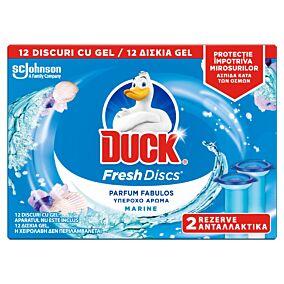 Αποσμητικό τουαλέτας DUCK block χωρίς θήκη marine fresh discs, ανταλλακτικό (2τεμ.)