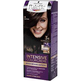 Βαφή μαλλιών SCHWARZKOPF palette semi set καστανό νο.4