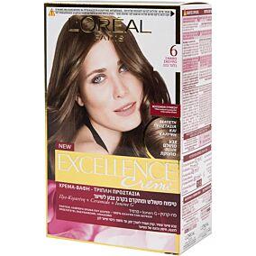 Βαφή μαλλιών L'OREAL excellence ξανθό σκούρο no.6