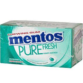 Τσίχλες MENTOS Pure Fresh wintergreen (100τεμ.)