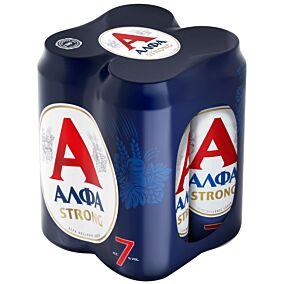 Μπύρα ΑΛΦΑ Strong (4x500ml)