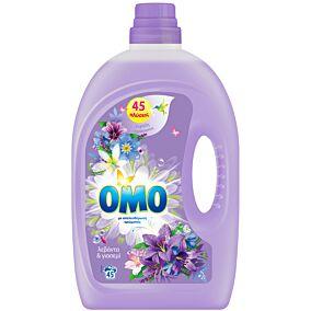 Απορρυπαντικό OMO λεβάντα και γιασεμί πλυντηρίου ρούχων, υγρό (45μεζ.)
