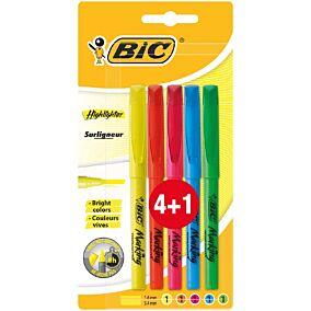 Μαρκαδόρος BIC υπογράμμισης (4+1τεμ.)