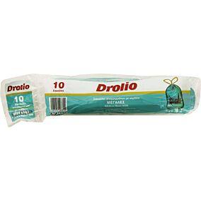 Σακούλες απορριμμάτων DROLIO με κορδόνι μεγάλες 52x75cm (10τεμ.)