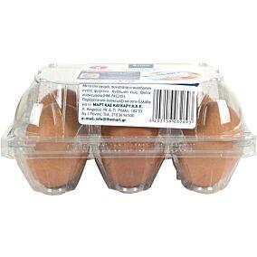 Αυγά ARION FOOD φρέσκα μεγάλα Α' κατηγορίας (6x53g)