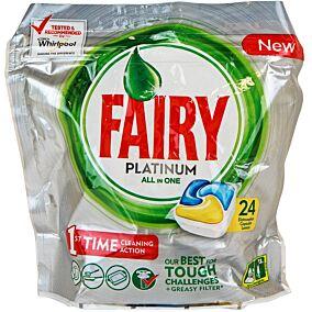 Απορρυπαντικό FAIRY platinum πλυντηρίου πιάτων λεμόνι, σε κάψουλες (24τεμ.)