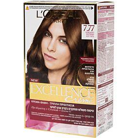 Βαφή μαλλιών L'OREAL excellence σοκολατί no.7.77
