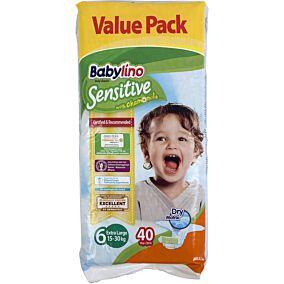 Πάνες BABYLINO Sensitive No.6, 15-30kg (40τεμ.)