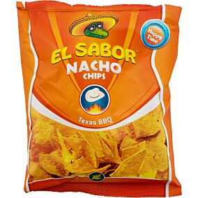 Τσιπς τορτίγια NACHO CHIPS Texas barbeque (100g)