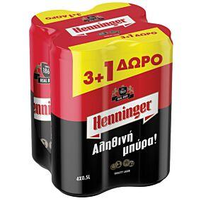 Μπύρα HENNINGER 3+1 ΔΩΡΟ (6x4x500ml)