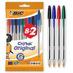 Στυλό διαρκείας BIC cristal medium pouch (10τεμ.)
