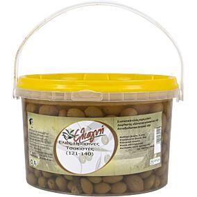 Ελιές ΕΛΙΑΓΝΗ πράσινες τσακιστή No.121-140 (3kg)