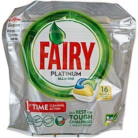 Απορρυπαντικό FAIRY platinum πλυντηρίου πιάτων λεμόνι, σε κάψουλες (16τεμ.)