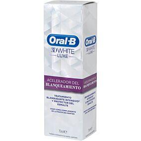 Οδοντόκρεμα ORAL B white luxe επιταχυντής λεύκανσης (75ml)