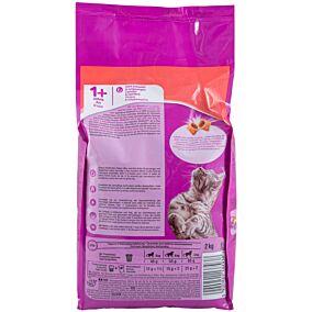 Ξηρά τροφή WHISKAS γάτας με μοσχάρι (2kg)
