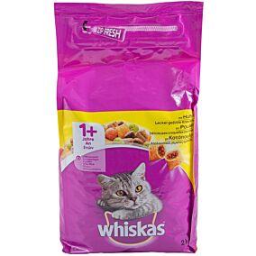 Ξηρά τροφή WHISKAS γάτας με κοτόπουλο (2kg)