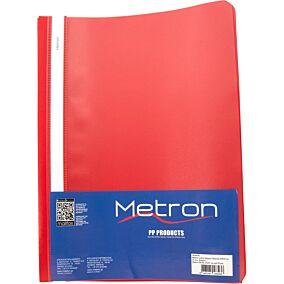 Ντοσιέ METRON Α4 PP με έλασμα κόκκινο (25τεμ.)