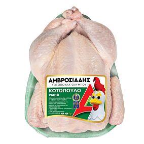 Κοτόπουλο ΑΜΒΡΟΣΙΑΔΗ ολόκληρο νωπό σε δισκάκι εγχώριο (~1kg)