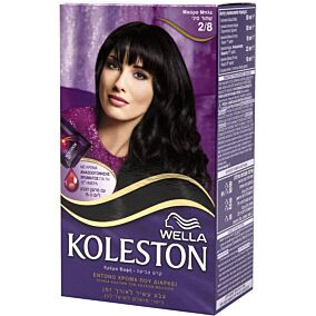 Βαφή μαλλιών WELLA Koleston μαύρο μπλε no.2/8 με κρέμα αναζωογόνησης χρώματος (50ml)