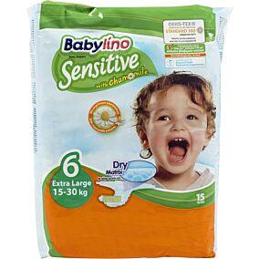 Πάνες BABYLINO Sensitive No.6, 15-30kg (15τεμ.)