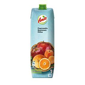 Φρουτοποτό AMITA πορτοκάλι, μήλο, βερίκοκο (1lt)