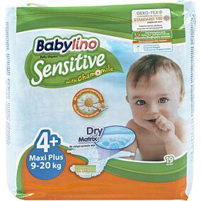 Πάνες BABYLINO Sensitive No.4+, 9-20kg (19τεμ.)
