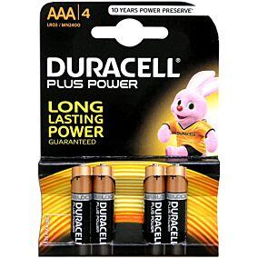 Μπαταρίες DURACELL plus αλκαλικές ΑΑΑ 1,5V MN (4τεμ.)