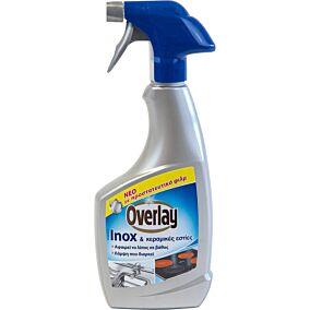 Καθαριστικό OVERLAY για inox κεραμικές εστίες (500ml)