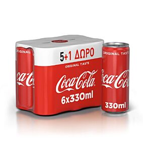 Αναψυκτικό COCA COLA (6x330ml)