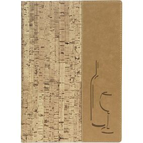 Θήκη κρασιού, SECURIT Design κρασιού-cork, 4 σελίδες Α4
