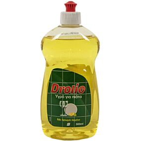 Απορρυπαντικό πιάτων DROLIO λεμόνι, υγρό (500ml)