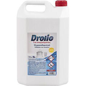 Χλωρολευκαντικό DROLIO με άρωμα λεμόνι (5lt)