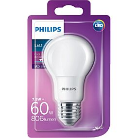 Λάμπα PHILIPS LED 7,6W E27 A60