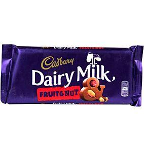 Σοκολάτα CADBURY Dairy Milk γάλακτος με φρούτα και ξηρούς καρπούς (110g)
