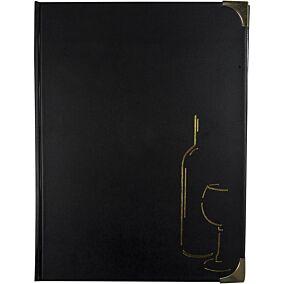 Θήκη μενού SECURIT Basic, A4, μαύρη, 8 σελίδες