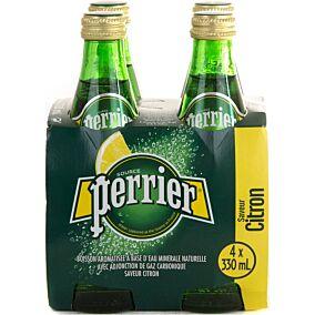 Νερό PERRIER lemon ανθρακούχο (4x330ml)